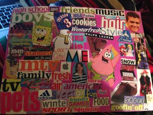 A collage of my interests at the time